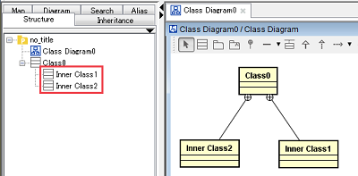 Astah users community site forum here is the example of drawing a class which has multiple inner classes ccuart Choice Image